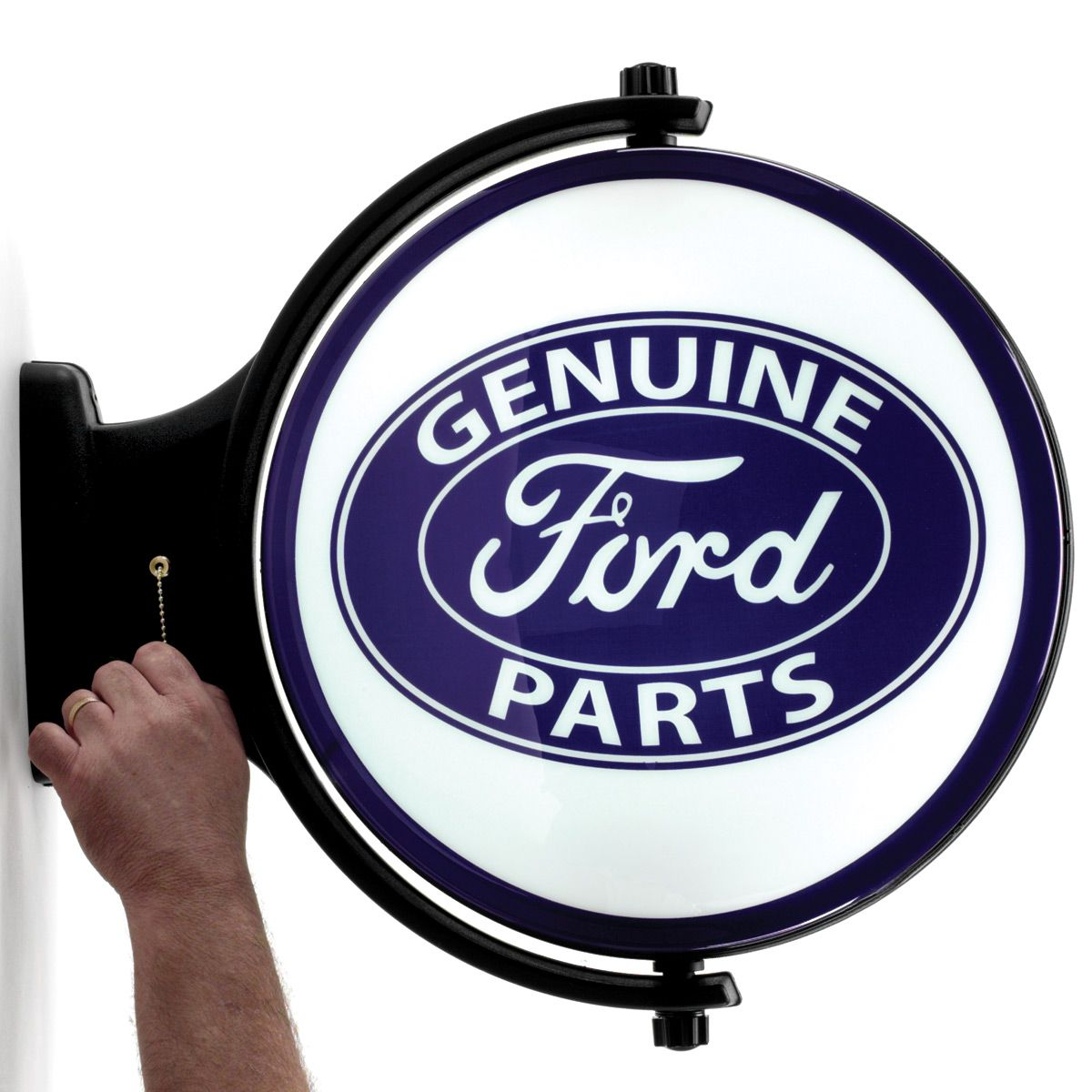 Corrugated Aluminium Metal Sign Ford Motor Co Genuine Parts Sales /& Service