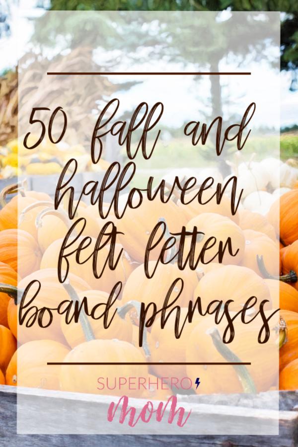 Felt Letter Board Phrases For Fall Halloween Felt Letters