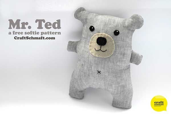 Mr. Ted - Free sewing pattern | Nähen | Pinterest | Kinderspielzeug ...