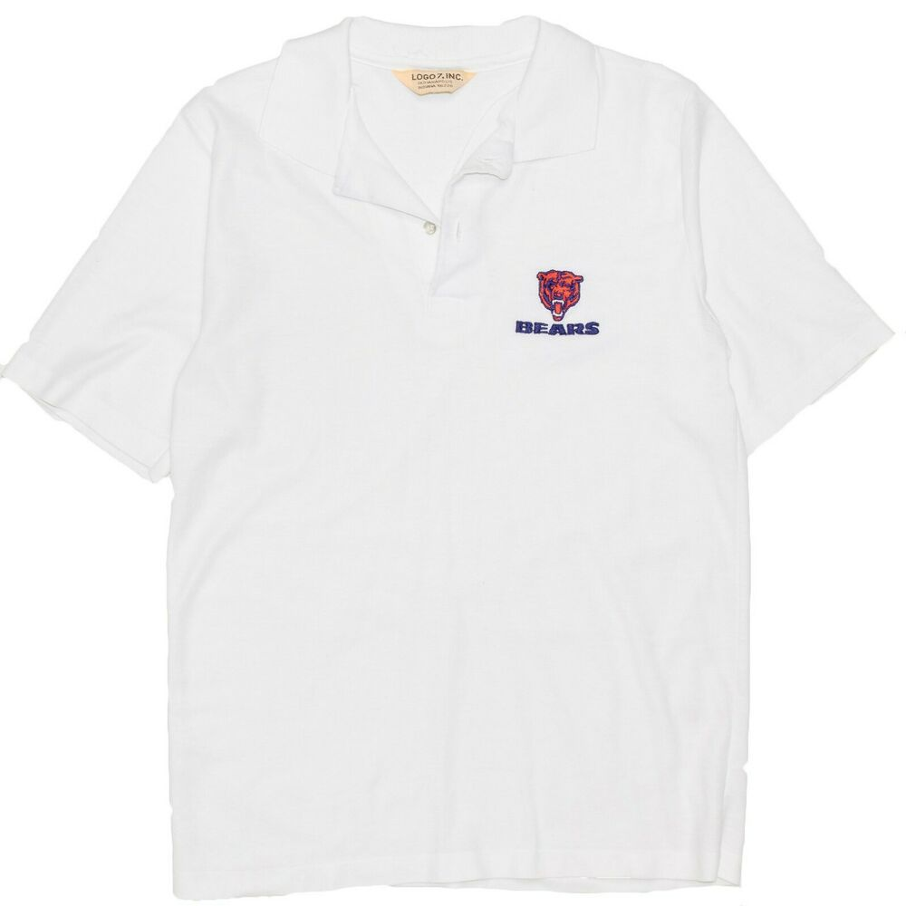 new style 5ddfa 60627 1980's Chicago Bears Polo Shirt Men's Medium Logo 7 NFL ...