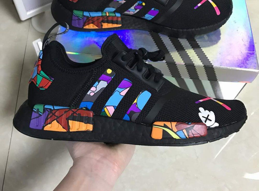 brand new db1e1 b1758 Image of Adidas nmd custom painted boost
