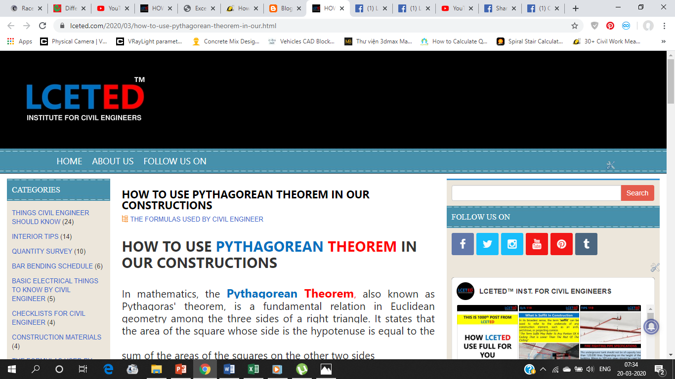 HOW TO USE PYTHAGOREAN THEOREM IN OUR CONSTRUCTIONS in