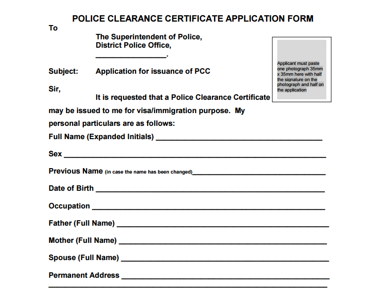 Police Clearance Certificate Pcc Is Issued To Indian Passport