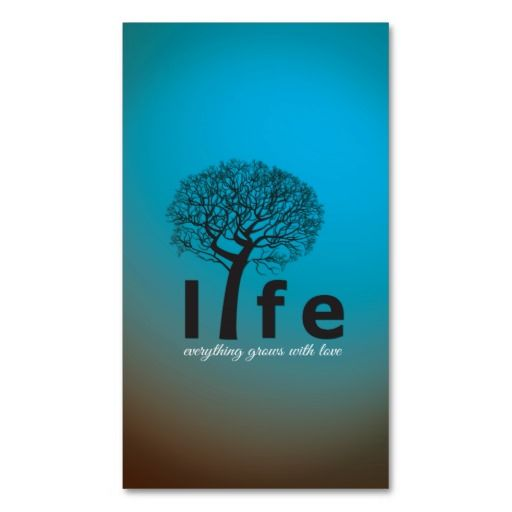 Teal inspirational life tree quote business card pinterest tree teal inspirational life tree quote business card reheart Images