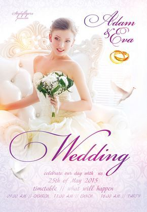 Download our new wedding project «Wedding Flyer» #wedding #event - wedding flyer