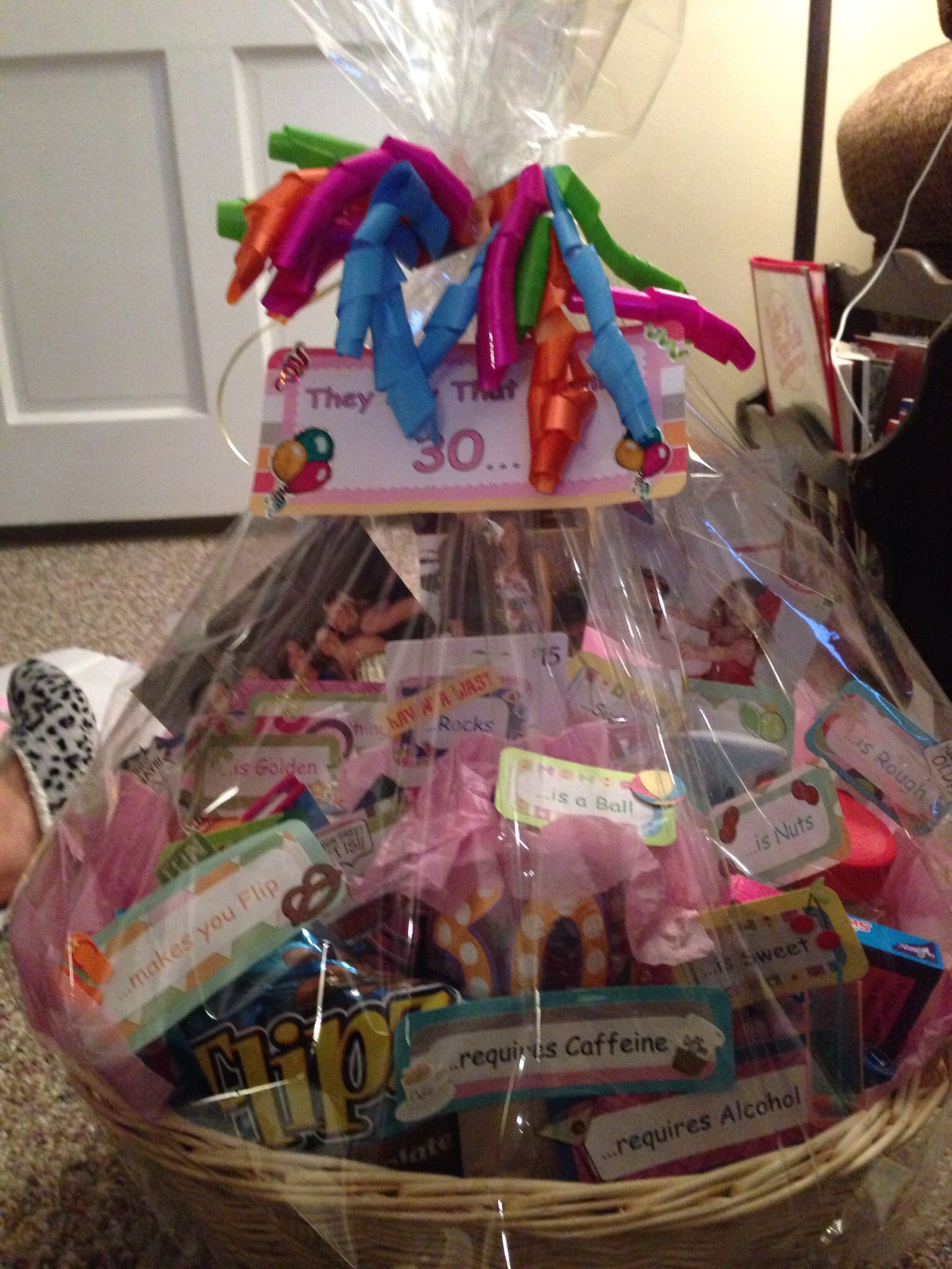 30th birthday basket. They say turning 30... | 30th ...