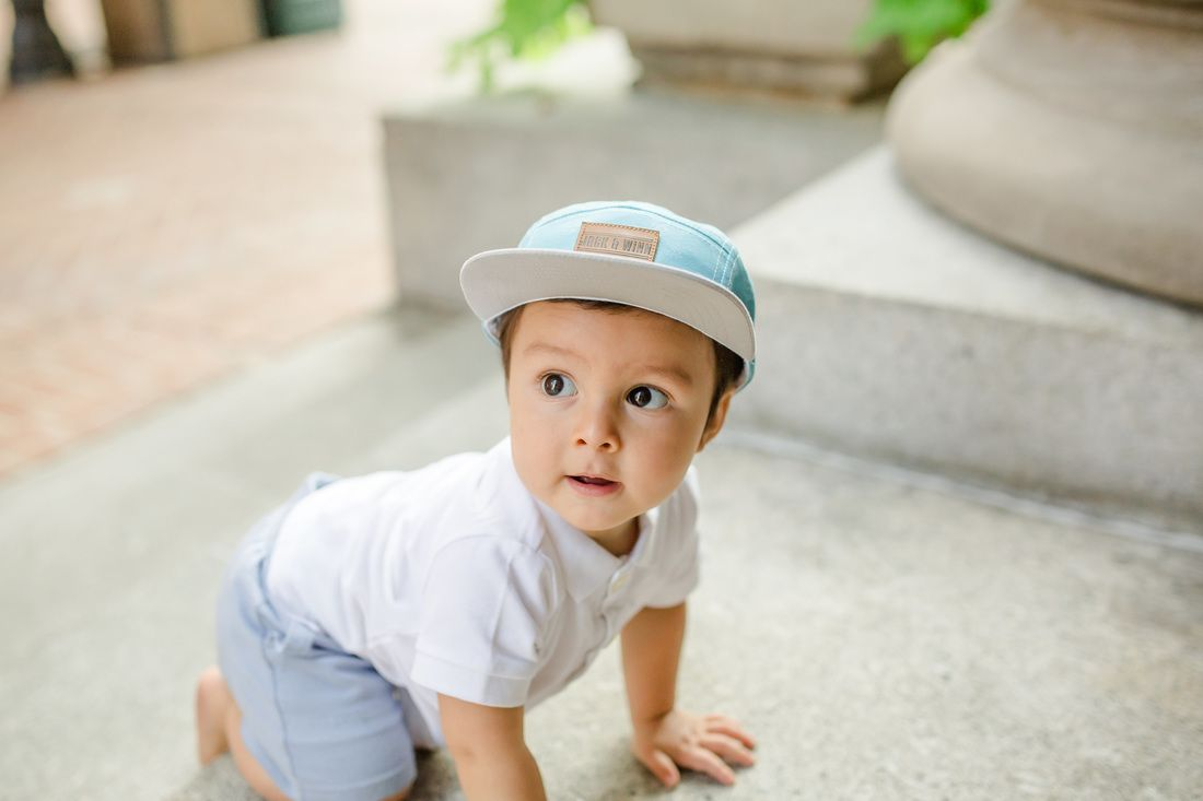 Perfect little hipster baby 5-panel hat. 7 more itty-bitty and adorable  styles online! 0dd4d775cec