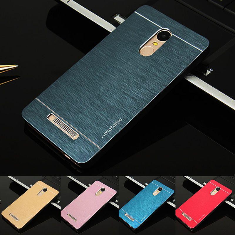대한 xiaomi redmi note 3 pro case motomo 알루미늄 금속 브러시 플라스틱 하드 case 대한 xiaomi redmi 3 s 3 주 4 프로 전화 케이스
