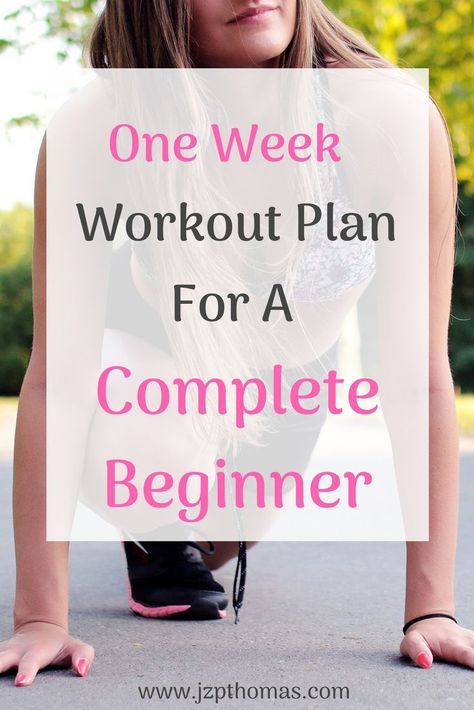 7 Day Workout Plan For Beginners