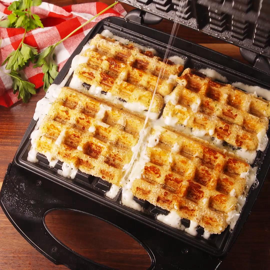 Mozzarella Stick Waffles