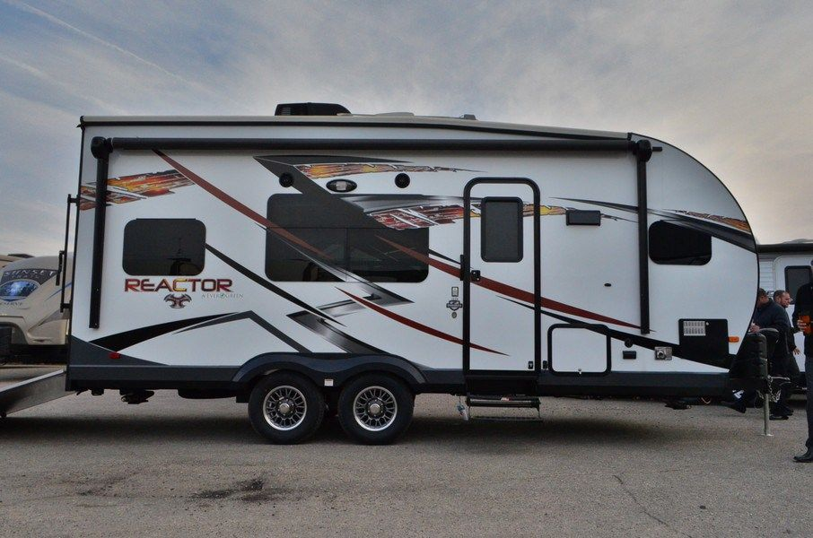"""WELL-EQUIPPED COMPACT TOY HAULER  2015 EverGreen Reactor 19FK Get ready for outdoor fun with this 24' 7"""" toy hauler that has everything you need to rest and recharge for continuous days of extreme adventure. This 5,575 lb. (dry) RV sleeps 5 of your closest friends and has enough room for everyone to freshen up and refuel after a long day on the trails.  Give our Reactor expert Mike Taravella a call 517-604-1908 for pricing and more information."""