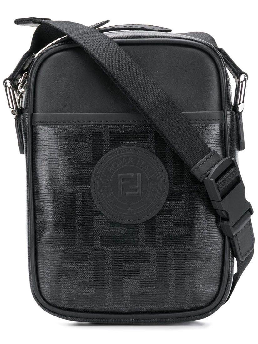 339ff9169998 FENDI 黑色小号FF斜挎包.  fendi  bags  shoulder bags  leather  lining ...