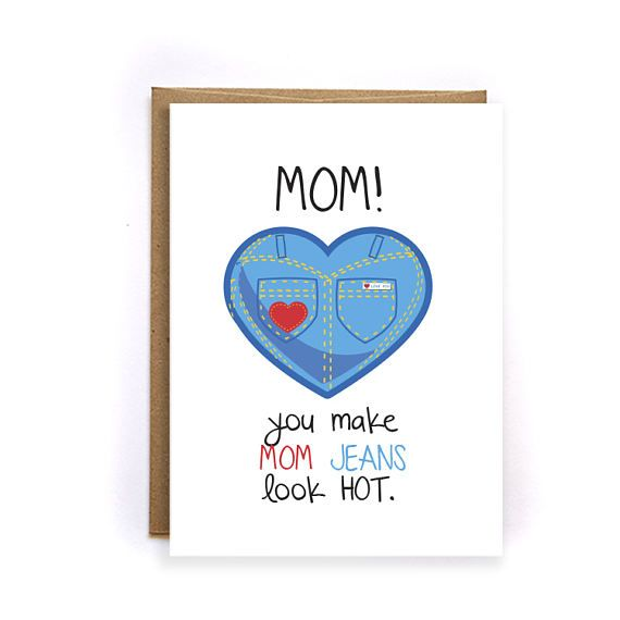 Mothers Day From Daughter Funny Mother's Day Card Mom