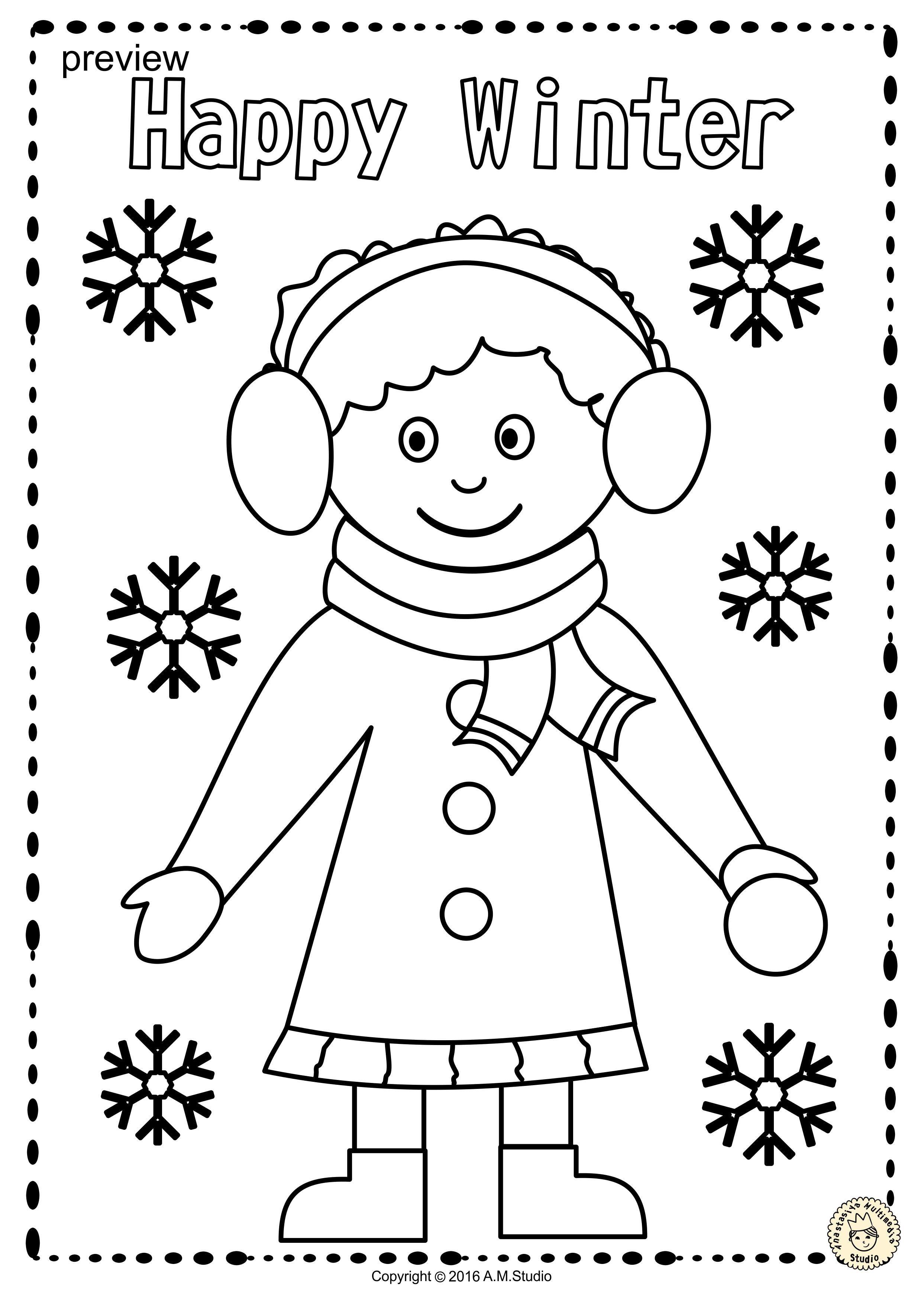 Winter Coloring Pages Anastasiya Multimedia Studio Winter Crafts Preschool Winter Crafts Winter Crafts For Kids