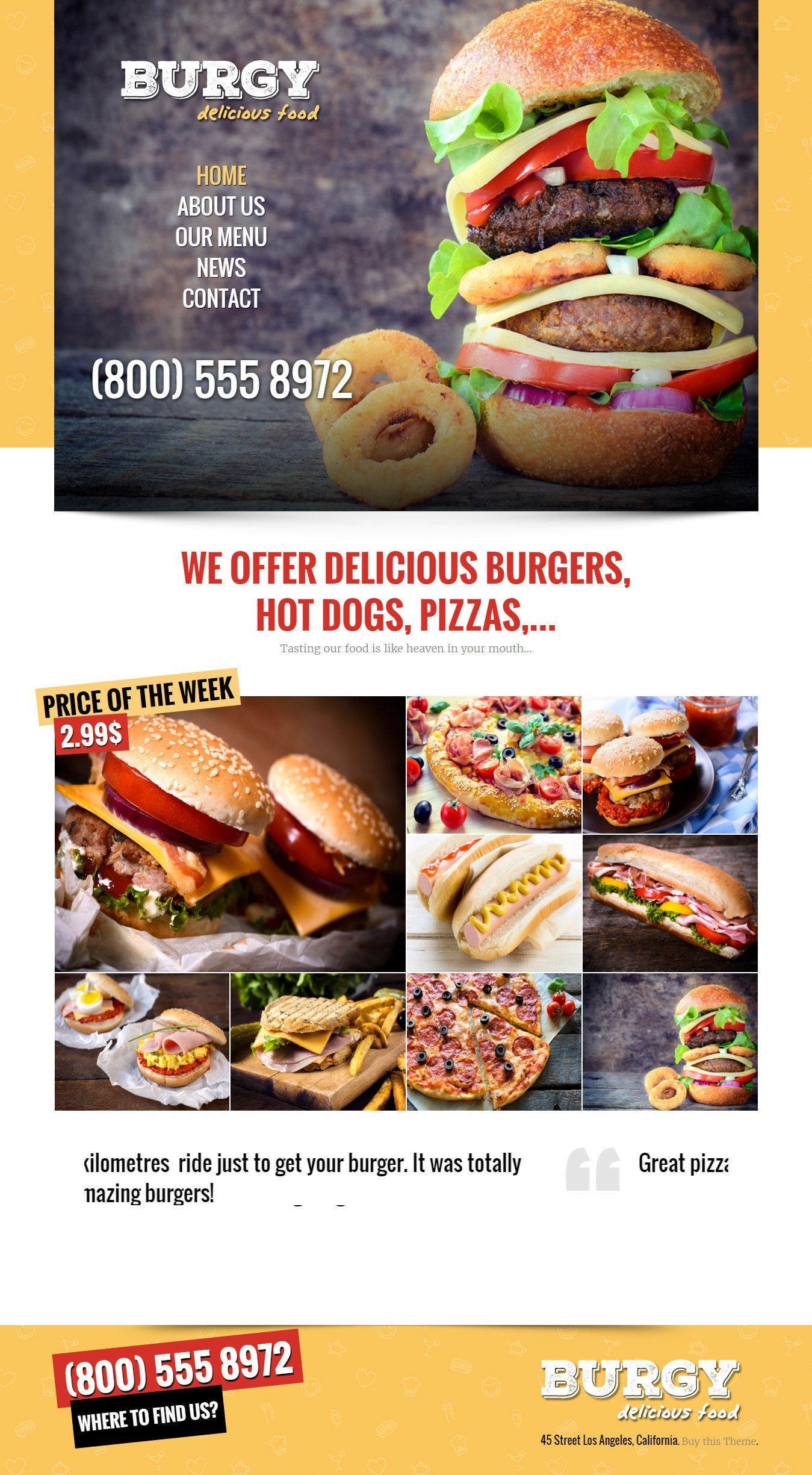 Burgy fast food burgers pizzas salads html template burgy fast food burgers pizzas salads html html website templatesrestaurant pronofoot35fo Images
