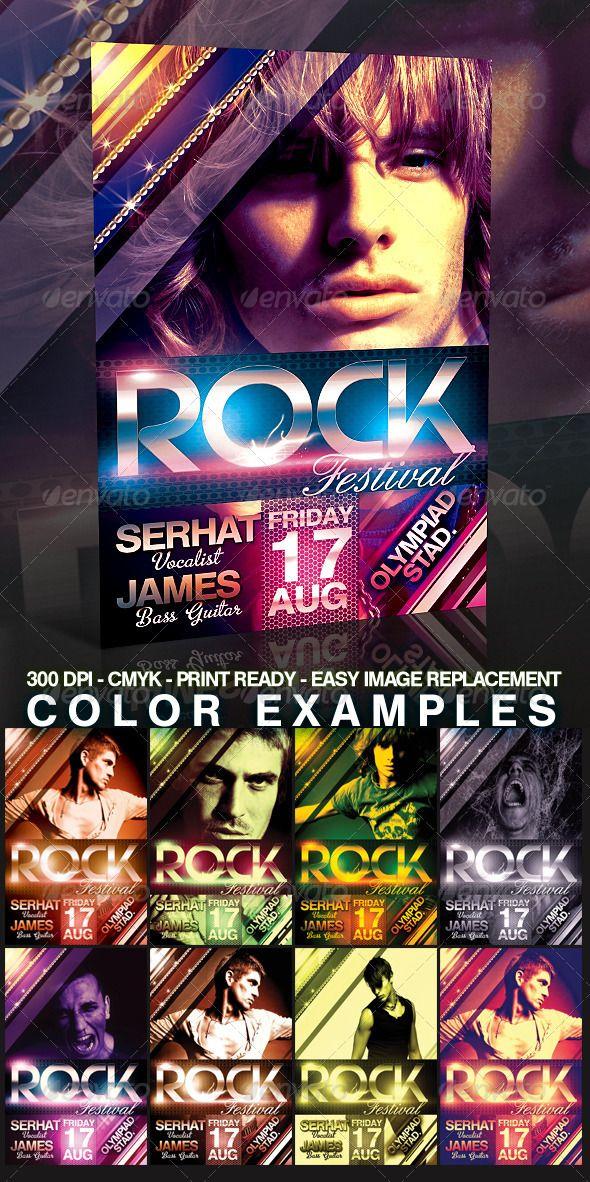 Rock Flyer Template Pinterest Flyer Template Template And Music