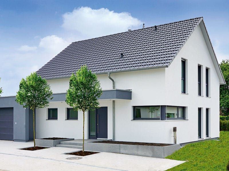 Weiss Fertighaus der einfamilienhaus klassiker fertighaus weiss verbindet
