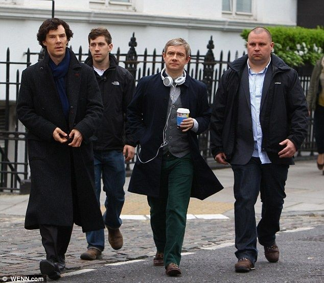 "Martin looks so in charge here. ""All right, boys, come with me."""