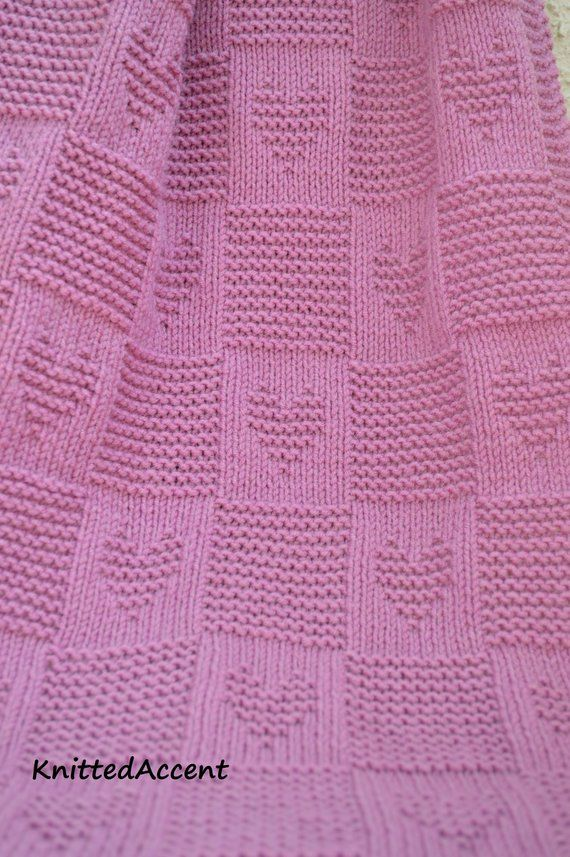 Baby Blanket PATTERN, only in ENGLISH, written instructions with diagram #strickanleitungbaby