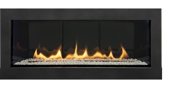 Great Room Fireplace Cosmo 42 With Black Glass Media Canopy Glass Canopy Curtains Canopy Bedroom