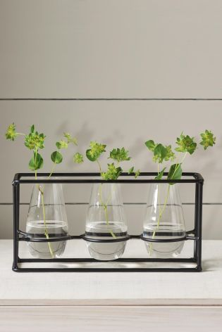 Buy Metal Frame With Glass Bud Vases Online Today At Next Israel