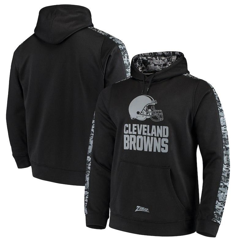 d8a5cf88 Cleveland Browns Zubaz Digi Camo Pullover Hoodie – Black | Products ...