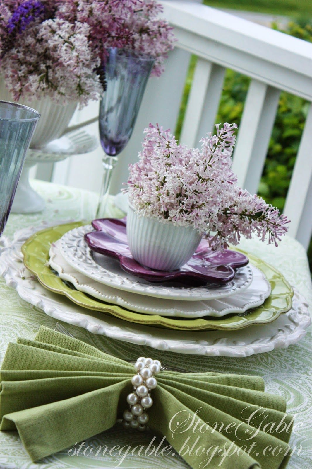 5 INTERESTING WAYS TO USE NAPKINS AND NAPKIN RINGS... A TABLESCAPE SERIES,  PART III   StoneGable Photo