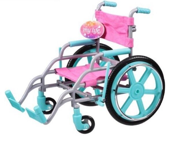 wheelchair accessories ebay homemade rocking chair my life as 18 doll pink hot toy american new