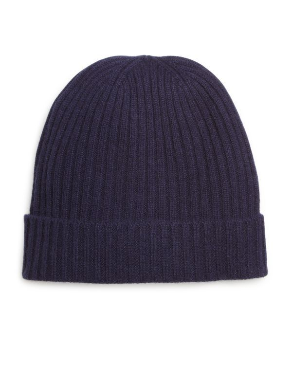 The Men's Store at Bloomingdale's Ribbed Cashmere Cuff Hat