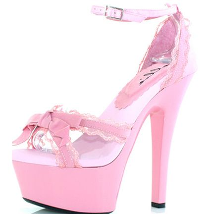 Pink High Heels | Pink Platform Sandals 601-Erika / Pumps and High ...