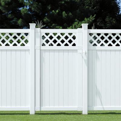 6 Ft X 5 3 4 Ft White Vinyl Lattice Top Fence Panel 116075 The
