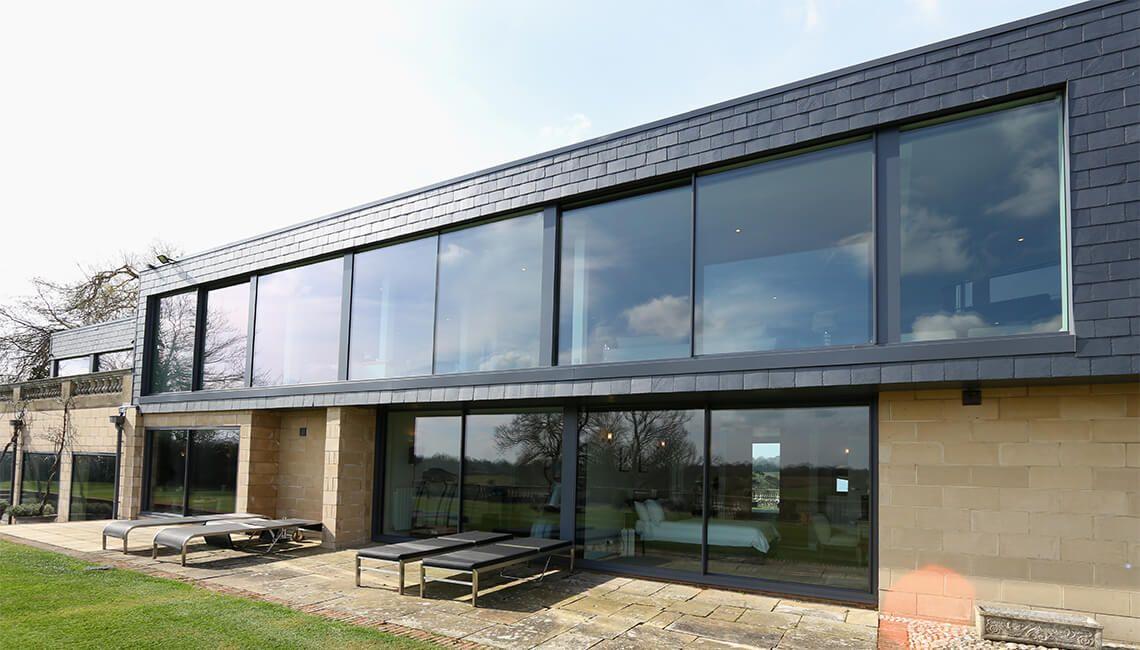 Dunloran House Thin Framed Sliding Glass Doors Future House