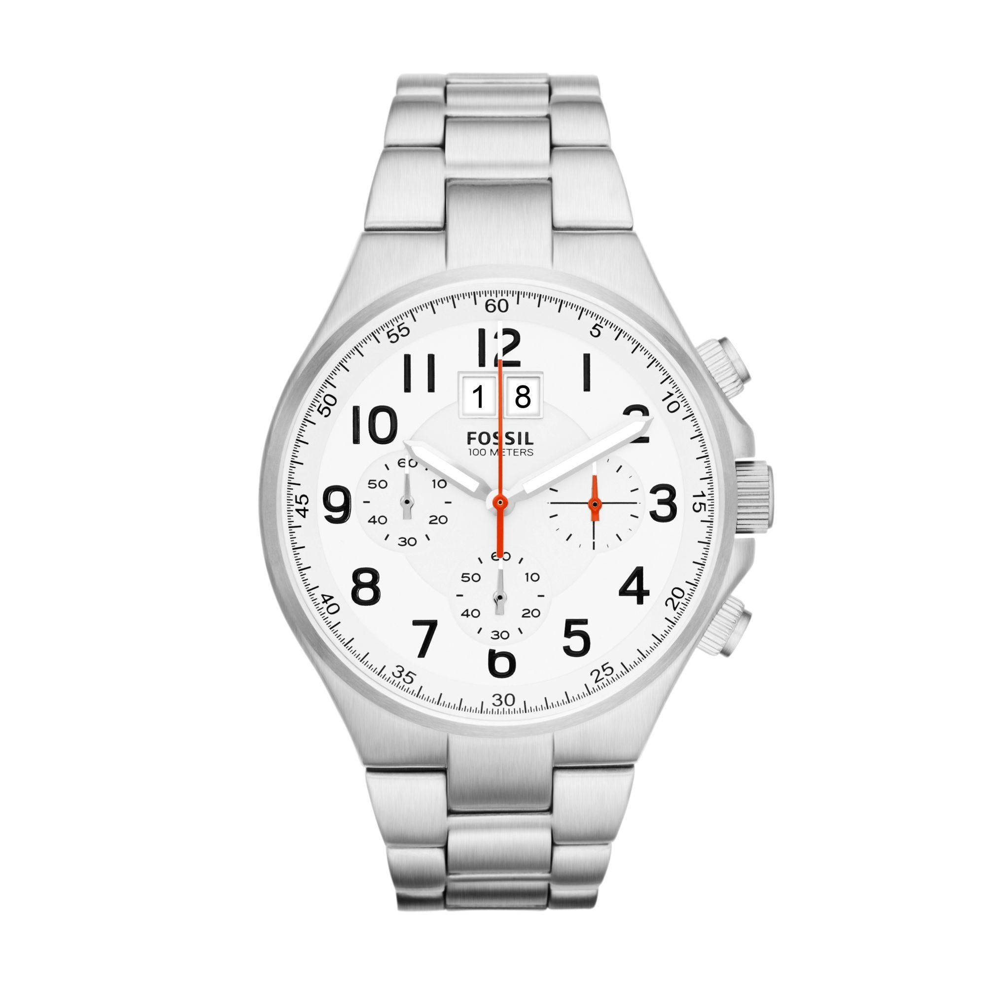 Fossil Uhr CH2903 Qualifier mit Gravur