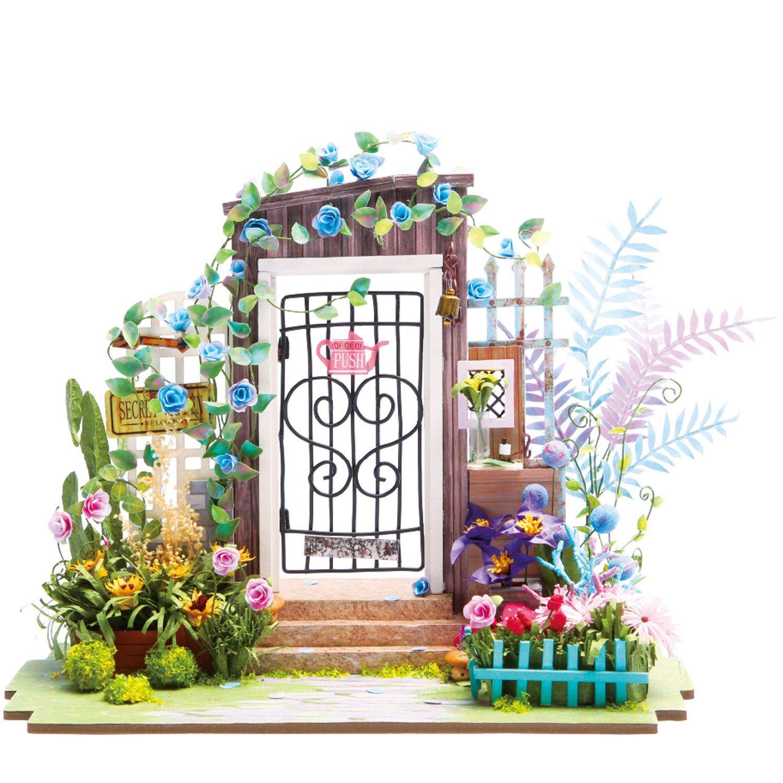 Garden Entrance Robotime DIY Miniature Dollhouse Kit