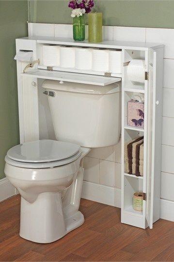 6. #pequeña estantería - 48 baño #súper inteligente #organización…