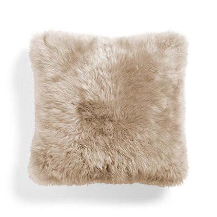 pillow sheepskin homelosophy lambskin melange shaved shearling sand products