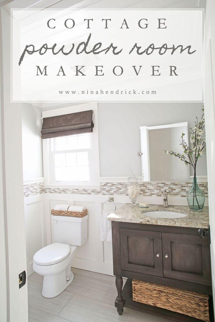 Diy Board And Batten Cottage Powder Room Makeover Beadboard Bathroom Bathrooms Remodel Small Bathroom Vanities