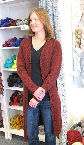 b635ca0f4 Knitting Pure   Simple Top Down Long Open Cardigan Pattern