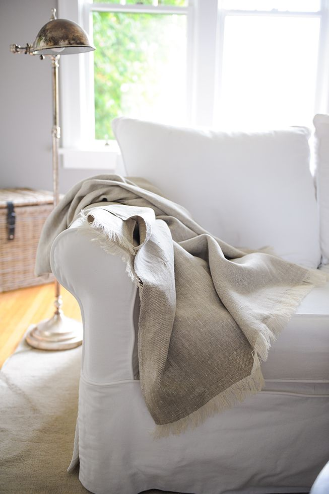 Wonderful Le Fil Rouge Textiles Beautiful Rustic Linen Throw With Hand Pulled  Fringes. Made In Canada Using Sustainable European Linen.