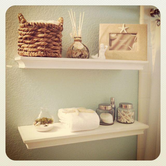 Beach Bathroom Decorations: Beach Bathroom...love The Neutral Colors And The Shells