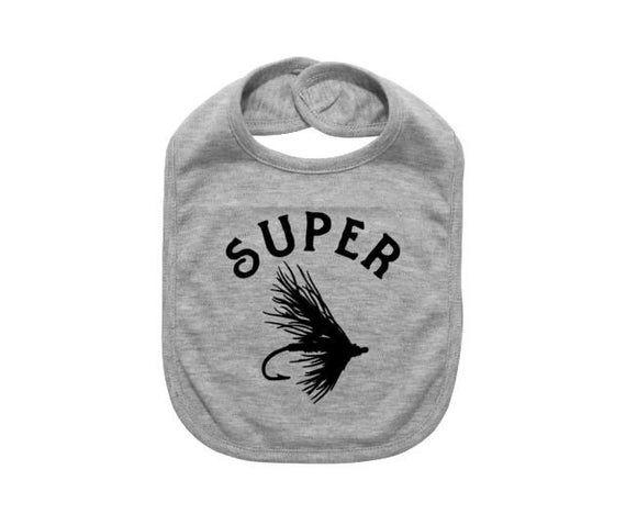 Baby Fly Fishing Bib, Super Fly, Fly Fishing Baby, Baby Shower, Gift For Baby, Newborn Bib, Infant F #bibsforbaby
