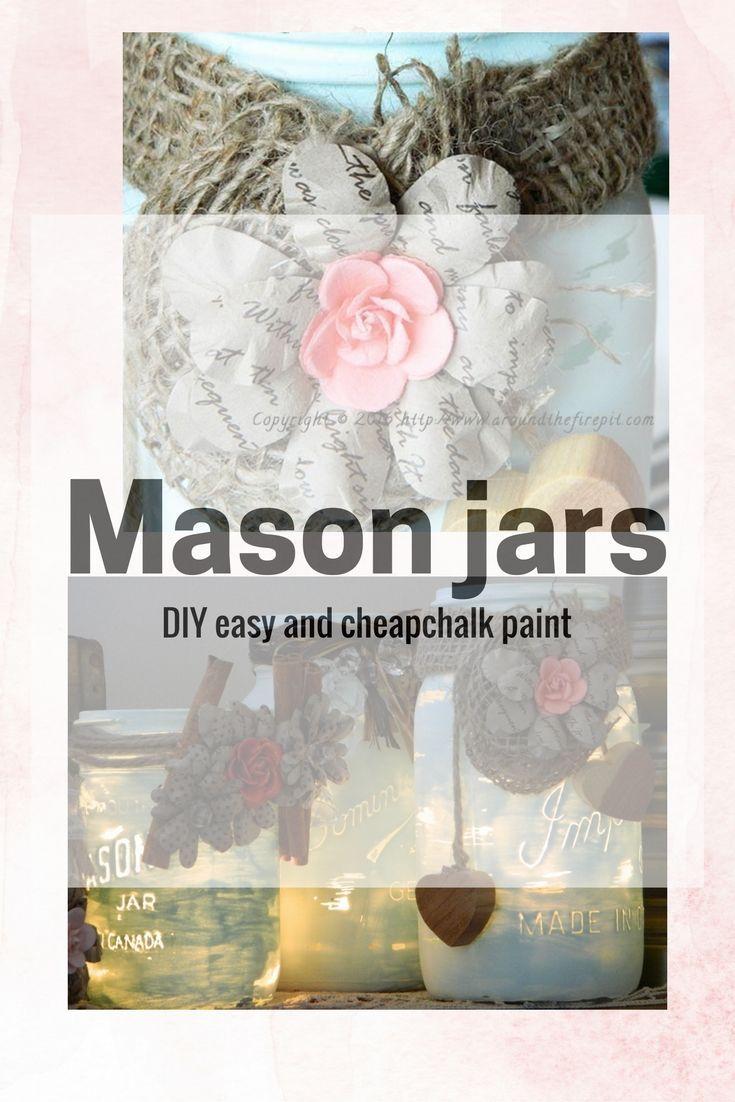 Mason jars easy and cheap