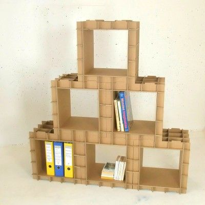 Kit Meuble En Carton Creez Vos Etageres Et Bibliotheques En Carton Avec Le Stri Cube Meuble En Carton Rangement Carton Etagere En Carton