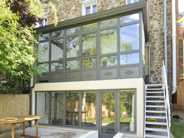 Extension une v randa sur deux niveaux pour agrandir une maison en meuli re verriere - Extension sur terrasse ...