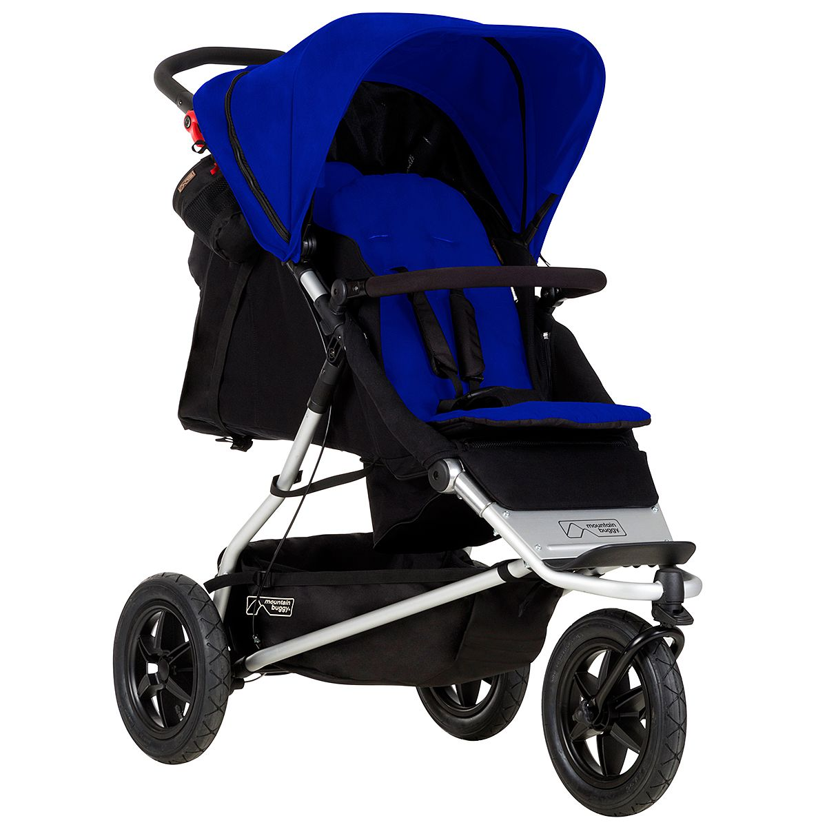 mountain buggy +one double inline stroller in 2 seat mode