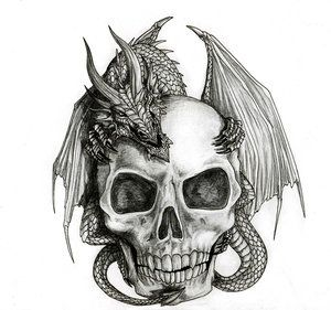 9bc52d2e3 Popular Skull Tattoo Designs | Best Skull Design In Skull Tattoo Flash