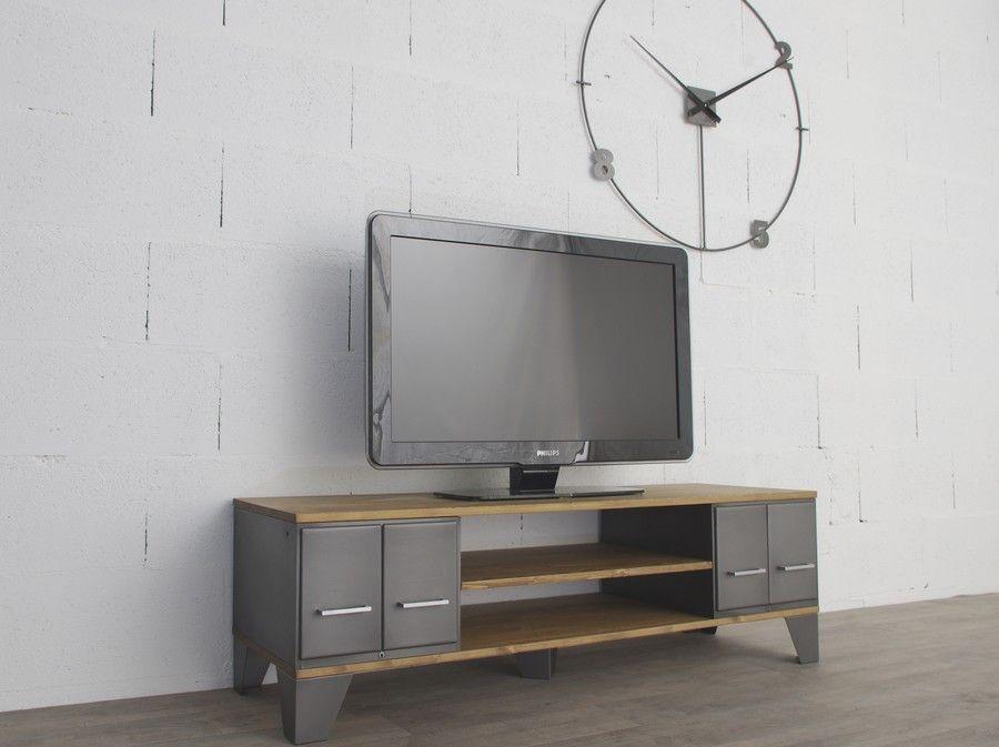 Fabrication d\u0027un meuble tv avec des anciens tiroirs restaurés avec