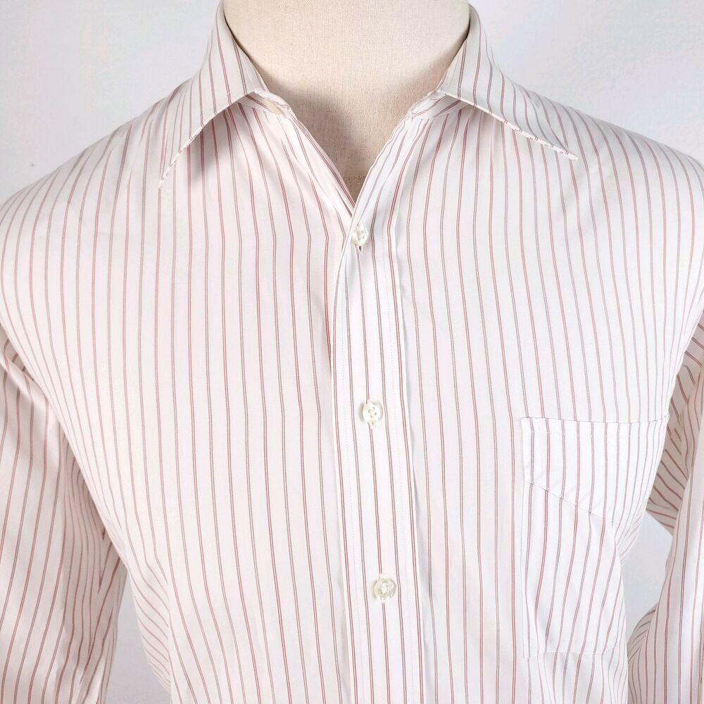 Maus Hoffman Striped Oxford Poplin Dress Shirt Mens Xl 16 5 34 L S Button Prep Maushoffman Business Shirt Dress Mens Shirts Poplin [ 1000 x 1000 Pixel ]