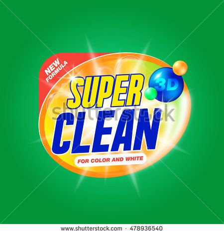 Super Clean Template For Laundry Detergent Package Design For