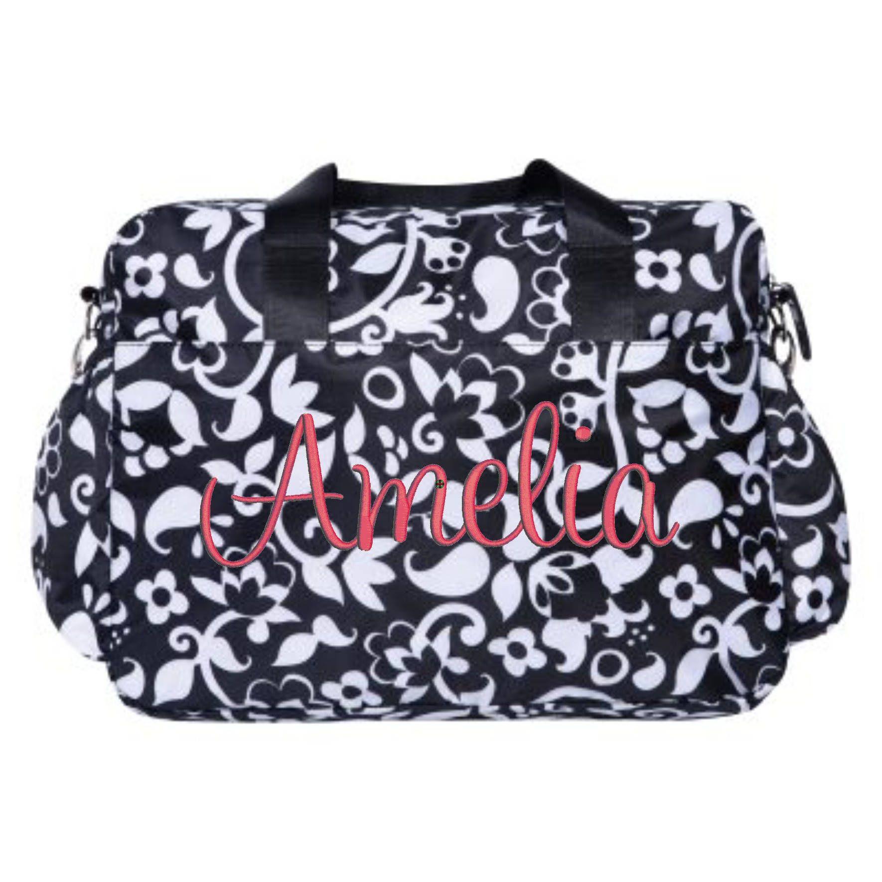 Monogrammed Diaper Bag For Girls Monogram Baby Girl Diaper Bag